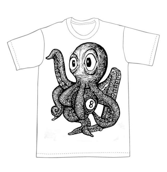Image of Octopus with an 8 Ball