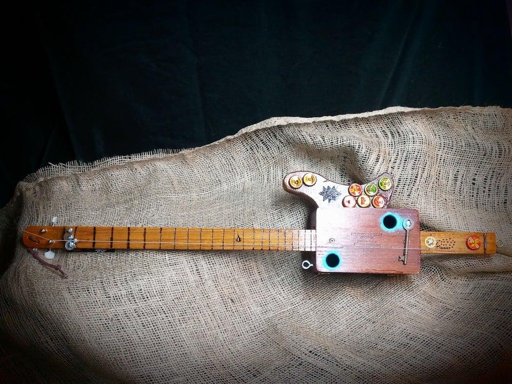 Image of Two String Cigar Box Guitar