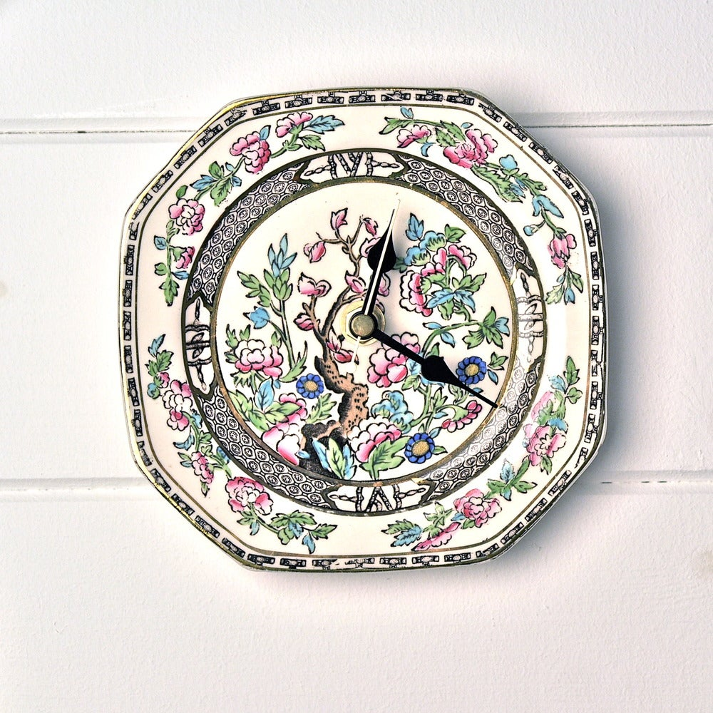 Image of Alfred Meakin Bengal Tree Vintage China Plate Wall Clock