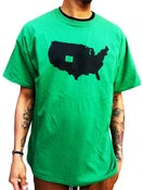 """Image of The Denver Shop """"Our State"""" Shop Tee Green"""