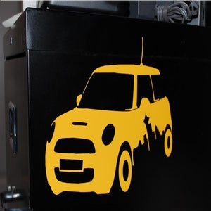 Image of Seattle Skyline Mini Cooper Sticker