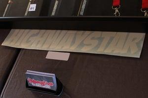 "Image of HIGHWAYSTAR 18"" cartoon banner"