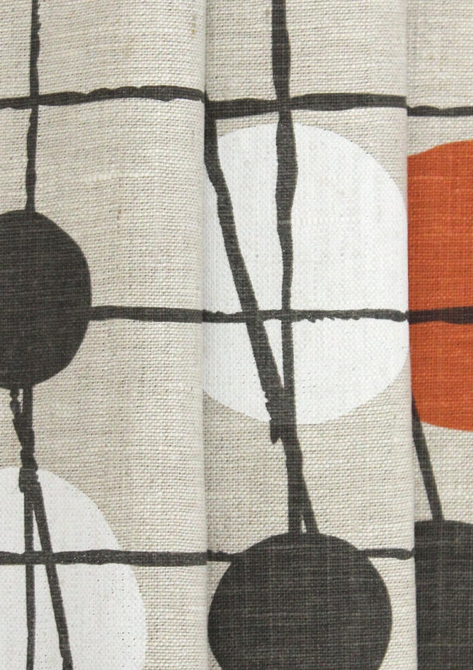 Image of Pavilion Linen Fabric - Harvest Orange