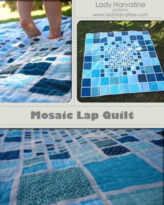 Image of Mosaic Lap Quilt PDF Pattern