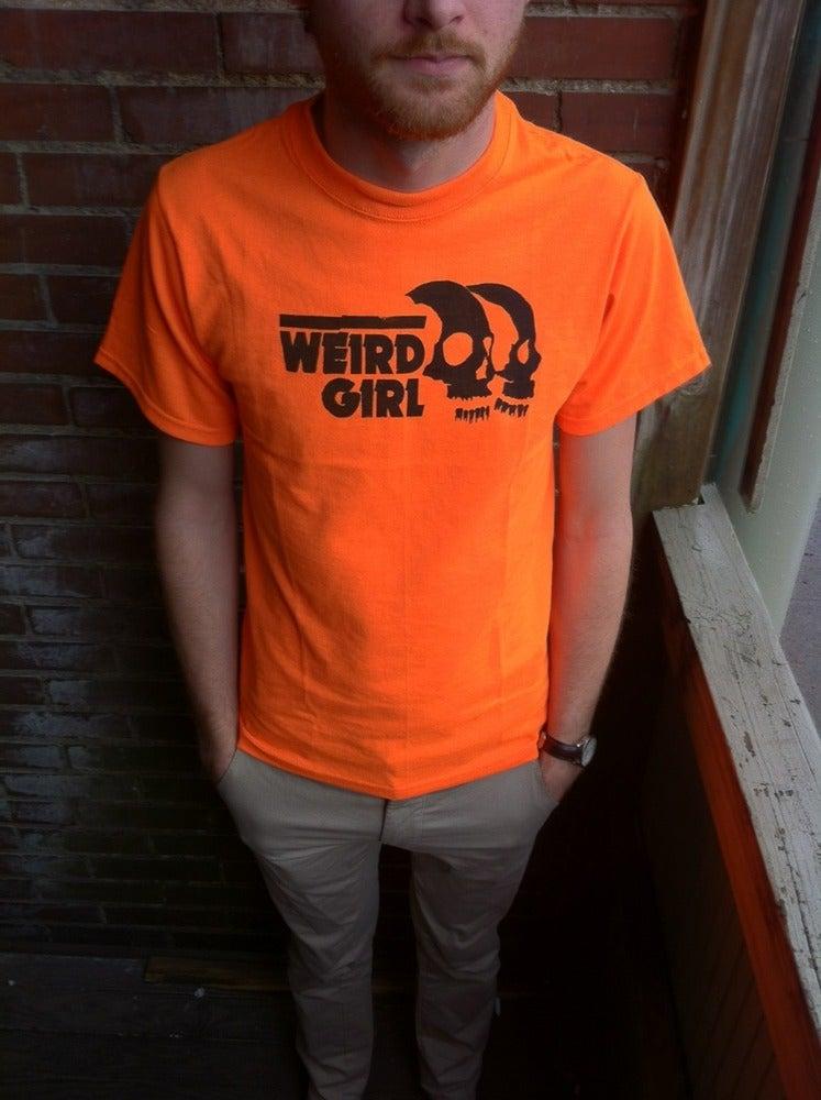 Image of 'Bad Friends' Shirt (Orange and Black)