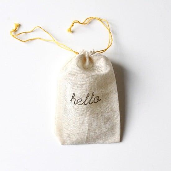 Image of Petite pochette en coton (8 x 12 cm)