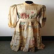Image of Rare 1970s Catherine Buckley patchwork antique jacquard maxi dress
