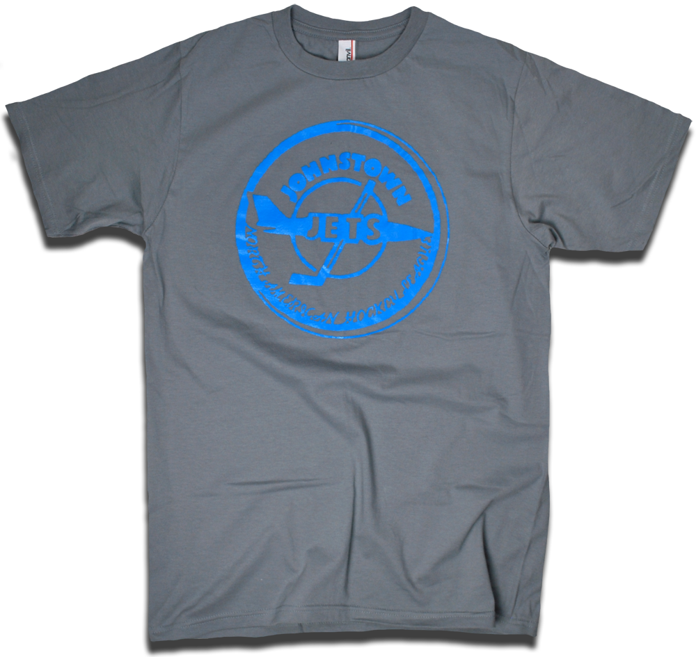 Image of Johnstown Jets 1977 NAHL custom hockey tee by Backpage Press