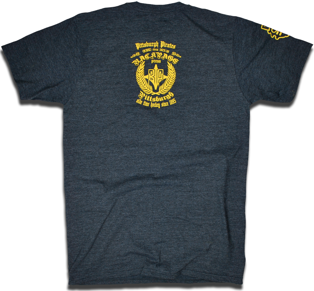 Image of Pittsburgh Pirates 1925 NHL custom hockey tee by Backpage Press