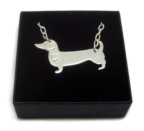 Image of Sausage Dog Pendant Necklace