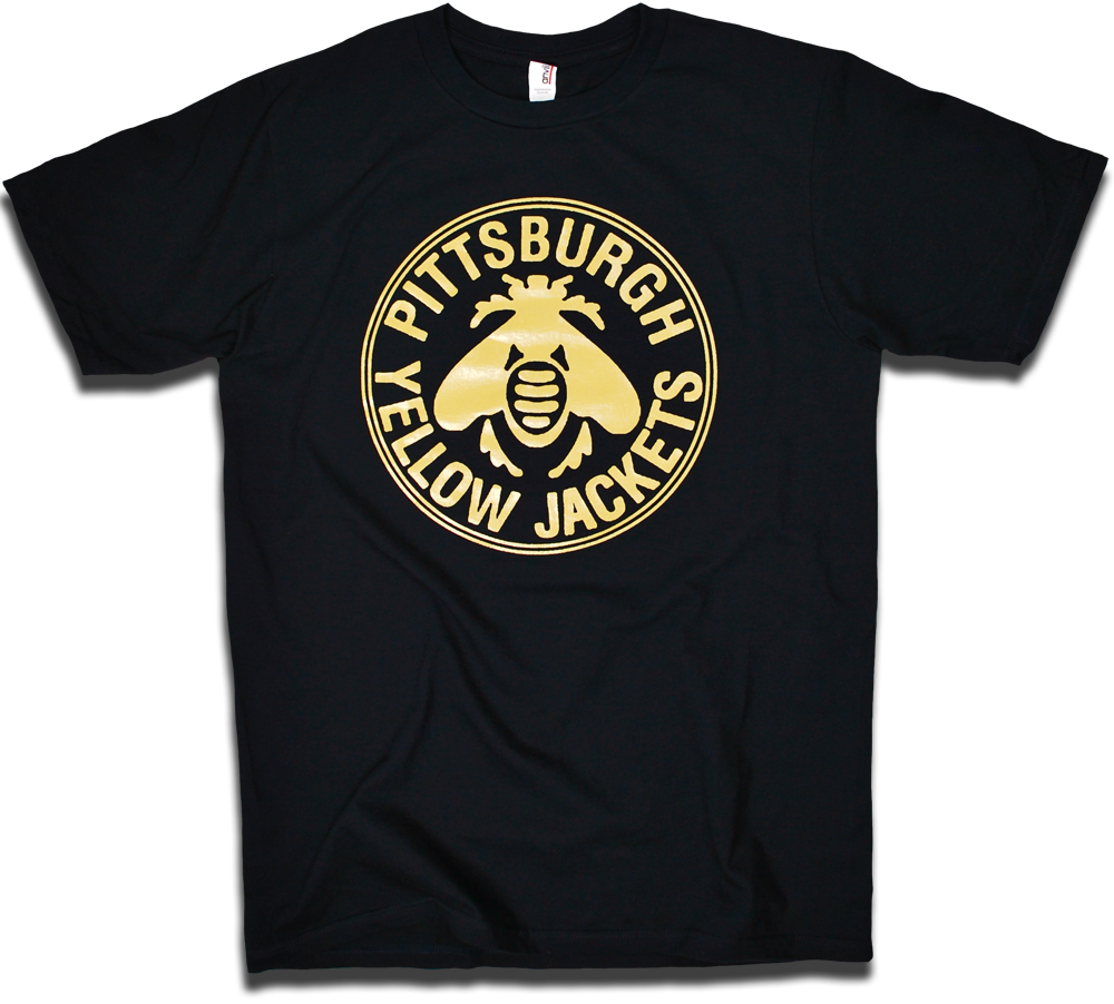 Image of Pittsburgh Yellow Jackets 1915 custom hockey tee by Backpage Press