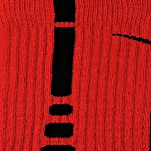 Image of Nike Elite Basketball Crew Socks Red/Black