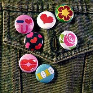 "Image of Studio Bento ""XOXO"" 1"" Buttons - Set of 7"
