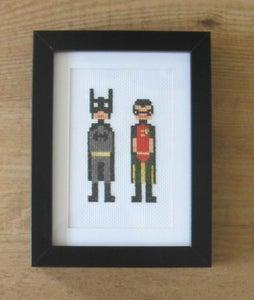 Image of Batman and Robin Cross Stitch