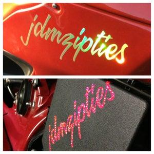 Image of JDM ZipTies Script Vinyl Decal