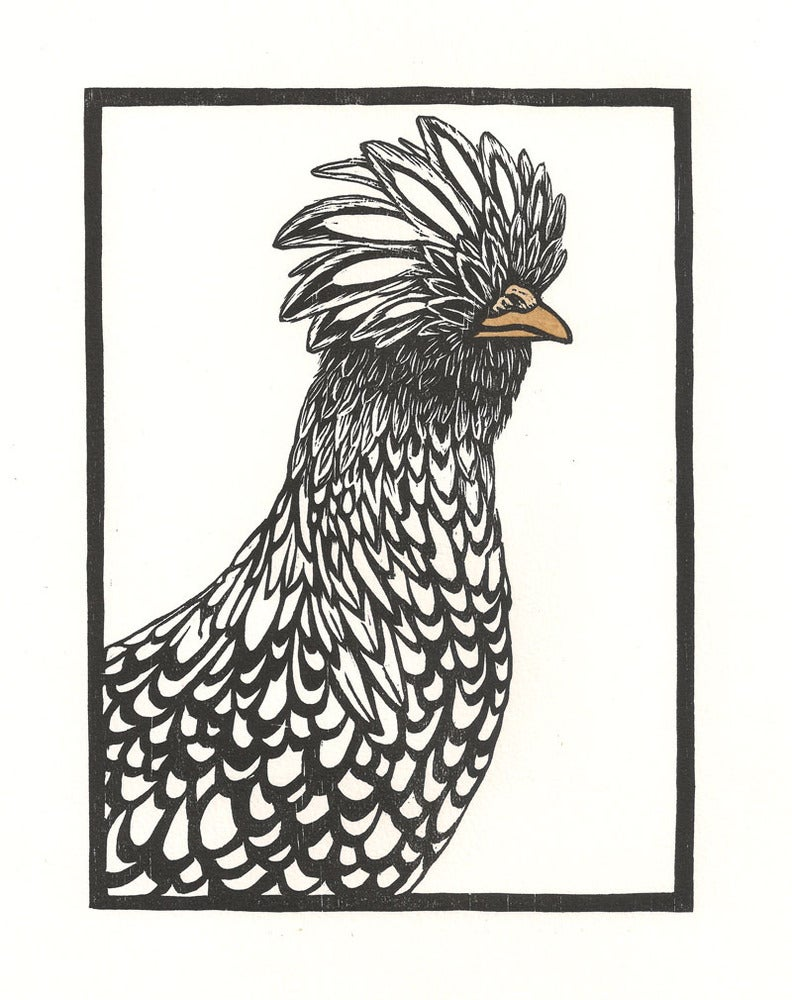Image of Polish Chicken Woodcut