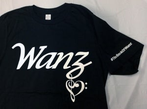 Image of Wanz Black T-Shirt