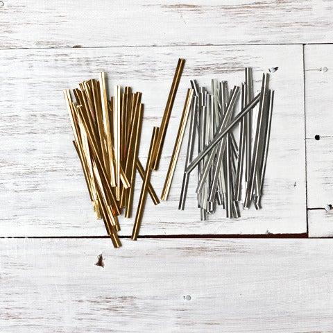 Image of Metallic Solid Twist Ties