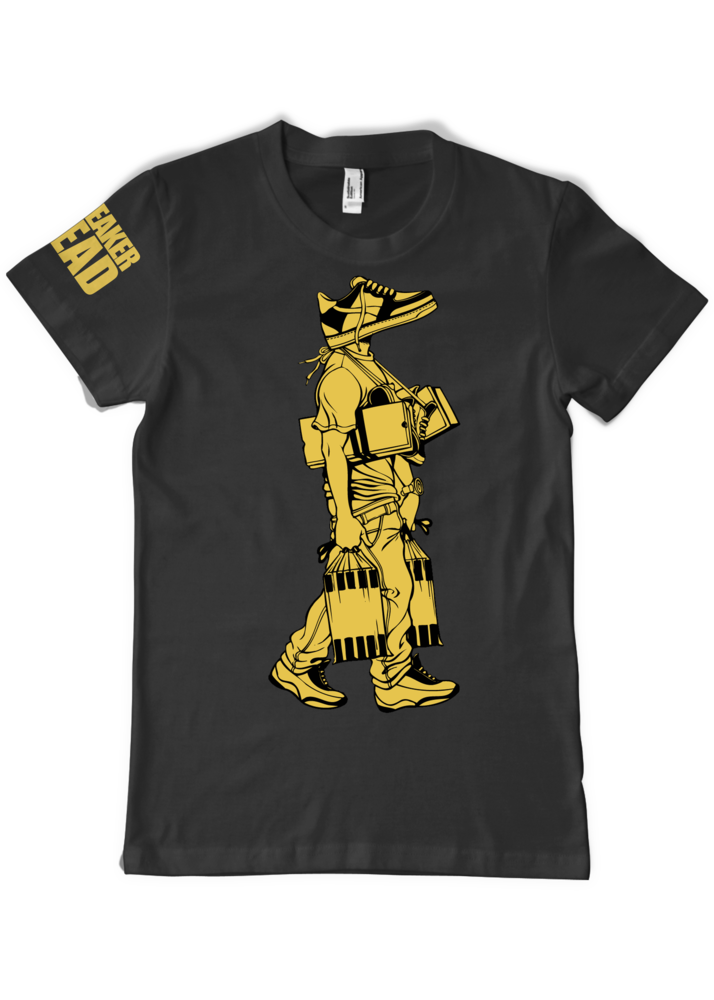 Image of LIMITED EDITION-GOLD- SNEAKER HEAD - TEE
