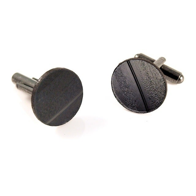 Image of Recycled Vinyl Record Cufflinks