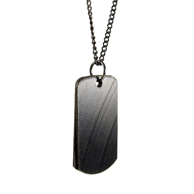 Image of Recycled Record Dog Tag