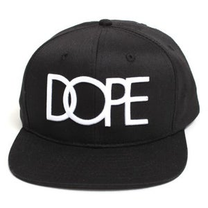 Image of Dope Couture - Classic Logo Snapback Hat Black