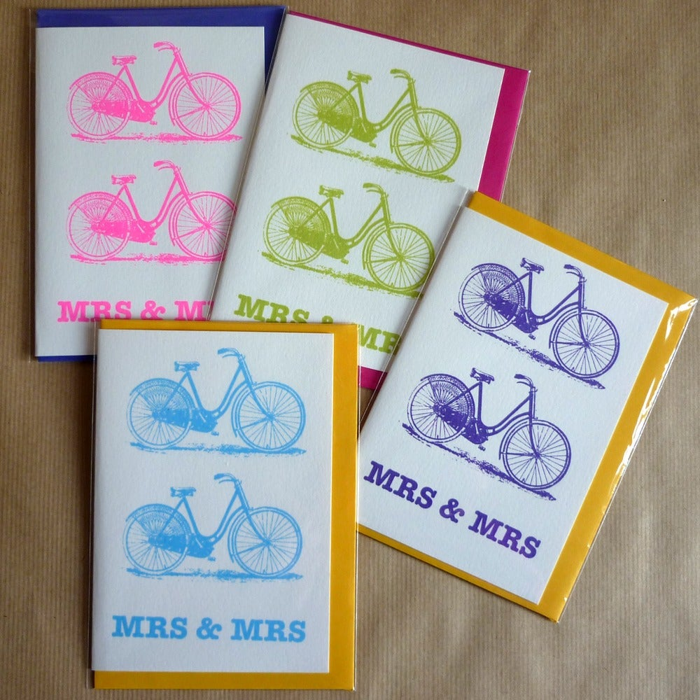 Image of Bicycle wedding card