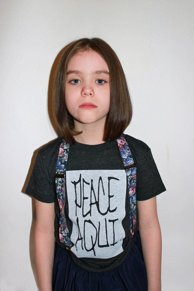 Image of Peace Aqui. Kids Tee