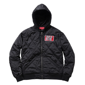 Image of Supreme Quilted Hooded Jacket <br> [Black]