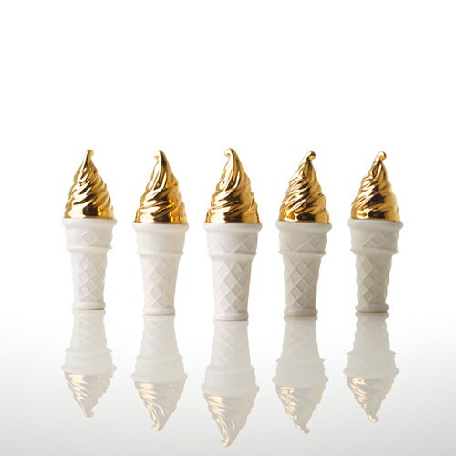 Image of Gold 'dipped' Soft Serve