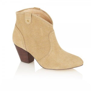 Image of Ravel Lucian Stone Suede Ankle Boots