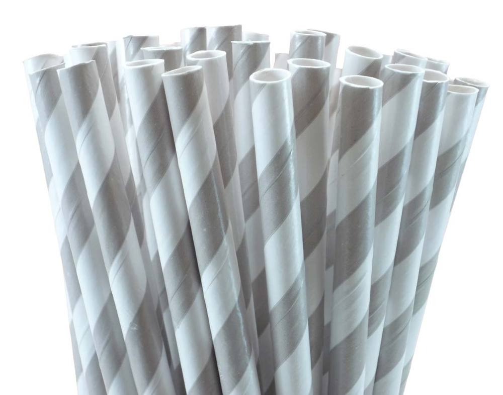 Image of Striped Paper Straws