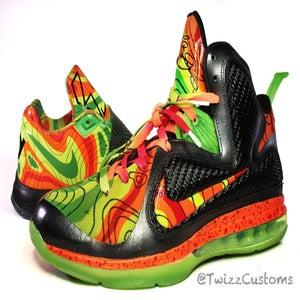 "Image of Nike LeBron 9- ""Al Roker 1.5"" Weatherman Custom"