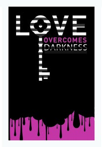 Image of Love overcomes art print