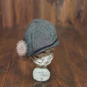 Image of Newsboy Hat - Black & Grey - Newborn Infant Toddler Child - Vintage Style
