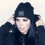 Image of FRIGHTMARE - Black Patch Beanie