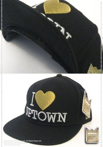 Image of I Love Uptown™ ***Snap Back Cap*** (Black/Gold)