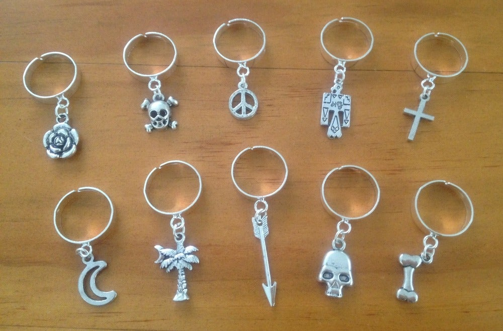 Image of Charm dangle rings