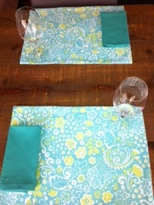Image of 12 Piece Set - Harmony - Placemats w/Matching Napkins Or Wine Glass Coasters