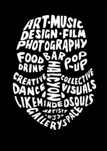 Image of Inkfolk black logo tee.