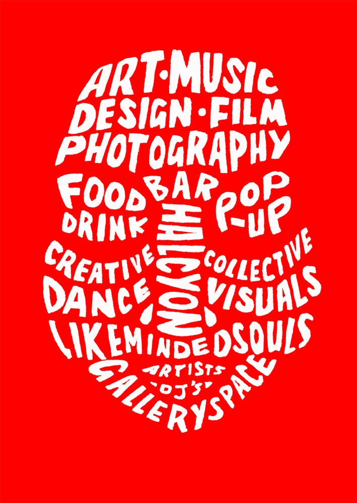 Image of Inkfolk red logo tee