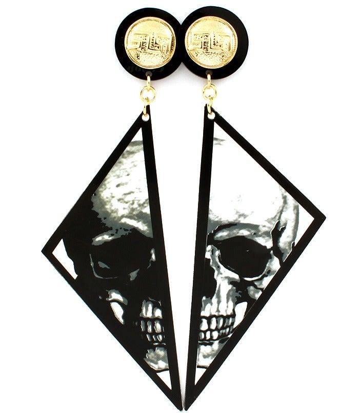Image of Broken Skull Earrings