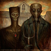 "Image of ""Post American Gothic""  Limited Edition Canvas Giclee- 16x20"""