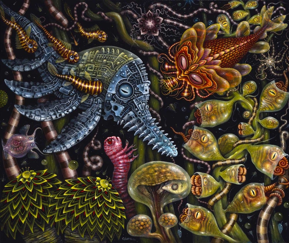 """Image of MICRODONS, 20 x 24"""" Signed Open Edition"""