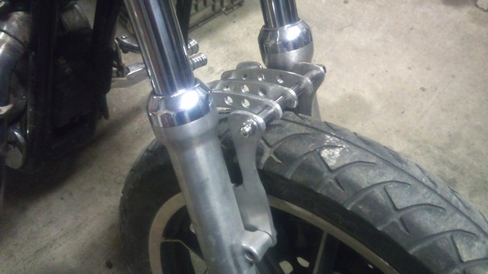 Image of Ribbed Sportster Fork brace