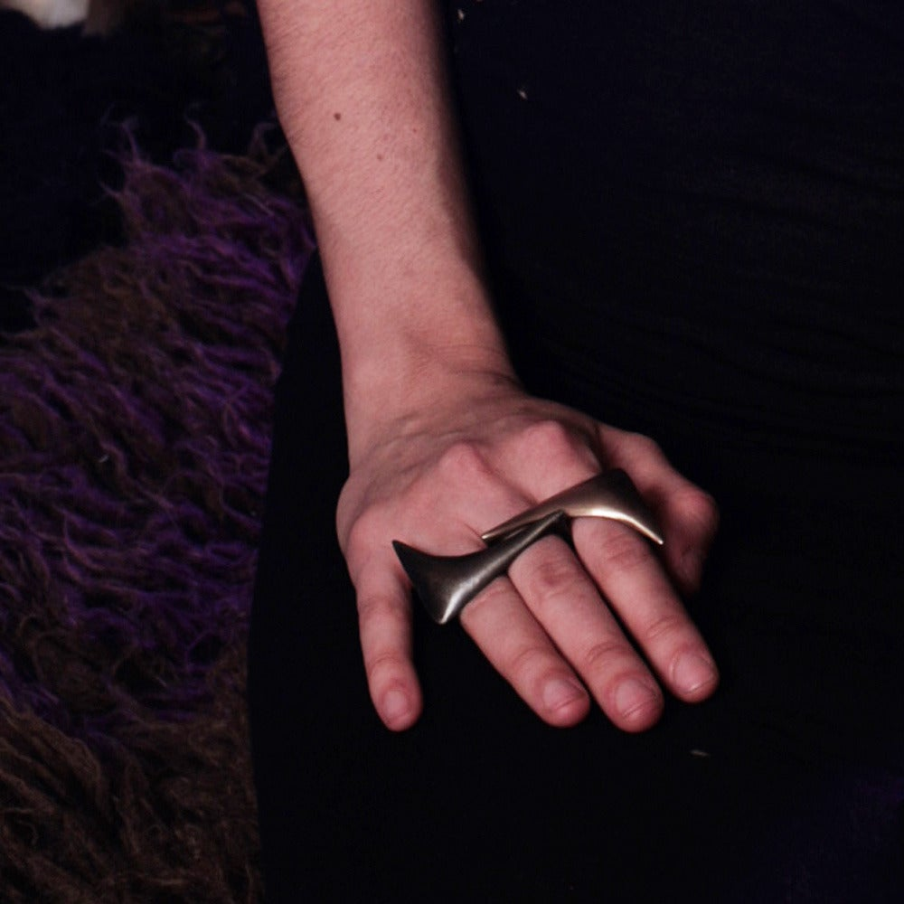Image of Double Finger Flexion Ring