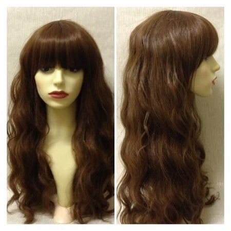 Image of Wren, Brown Wavy Crimped Curls Natural Boho Cosplay Wig