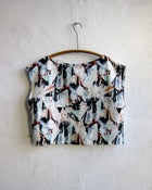 Image of Paper Folds Linen Blouse