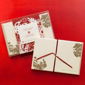 Image of Dragon & Phoenix Gratitude Cards
