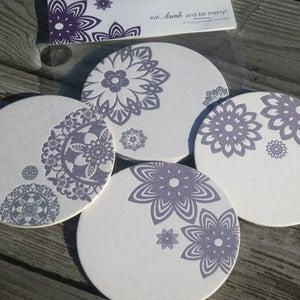 Image of Asian Ornaments Letterpress Coasters